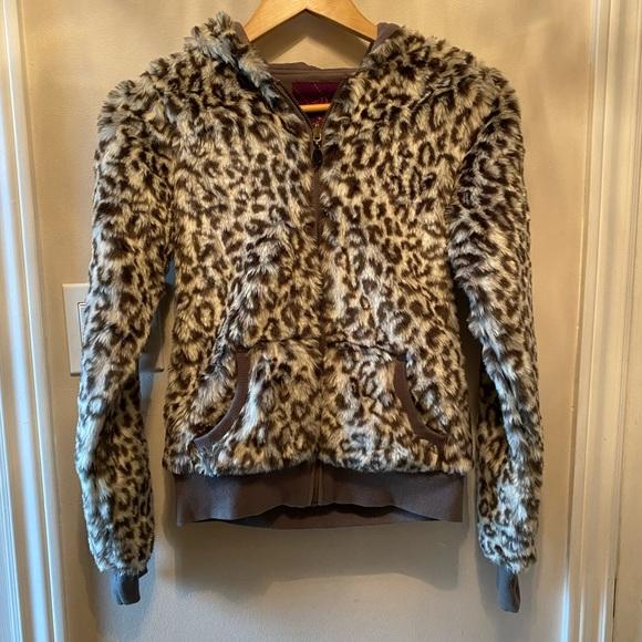 Oxygen Faux Fur Sweater Size S